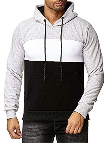 Sudaderas unisex para hombre y mujer, forro polar, manga larga con cordón con capucha y bolsillo canguro