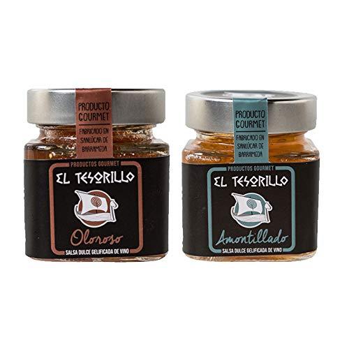 Pack de Mermeladas de Vino Oloroso y Amontillado - 2 tarros de 150 g cada uno - Mezclanza El Tesorillo Gourmet