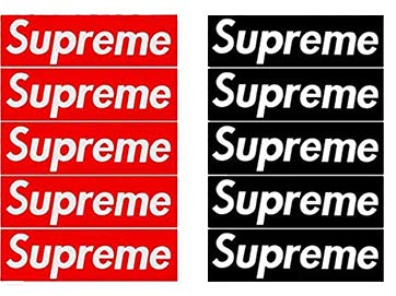 Supreme Sticker for Laptop Popular Brand Logo Sticker for hydroflask Pack of 10 pcs