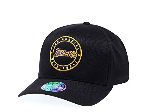 Mitchell & Ness Los Angeles Lakers Circle Patch 110 Flex Snapback Cap - NBA Kappe