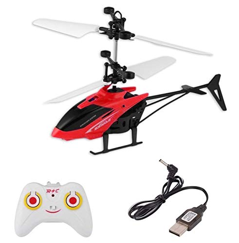 SE7EN Helicopter with Radio Remote Control and Hand Sensor Charging Helicopter 2 in 1 Toys with 3D Light Toys for Boys Kids