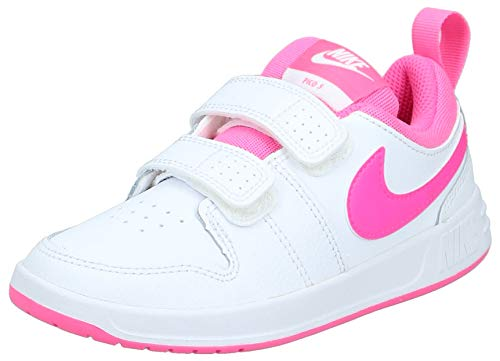 Nike Pico 5 (PSV), Scarpe da Tennis Bambino, Bianco (White/Pink Blast 102), 31 EU