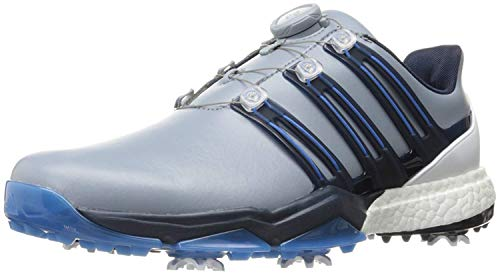Adidas Powerband BOA Boost Golf Shoes,Grey,10 M US