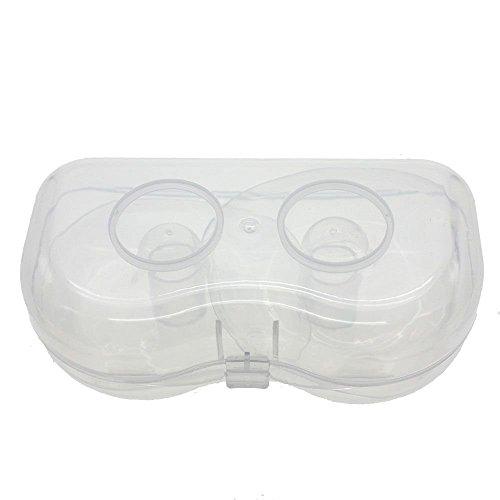 Gemini _ Mall 2PCS allattamento Paracapezzoli/protezioni in silicone con custodia, riutilizzabile