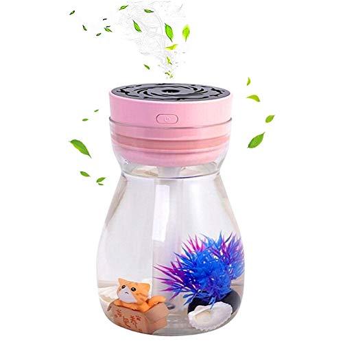 Micro Landscape Humidifiers, Mini Humidifier, Small Humidifier, cute humidifier,Car Humidifiers,Air Humidifier, Cool Mist Humidifiers For Bedroom Kids Office Desk Humidifier(Pink)