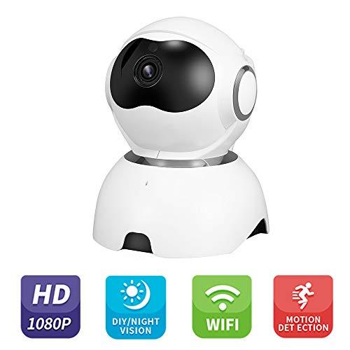 OWSOO 1080P HD Cámara IP WiFi Inteligente con Detección de Movimiento, Vision Nocturna, Audio Bidireccional, Almacenamiento en la Nube para Monitor del Bebé y Mascota, Seguridad de Casa
