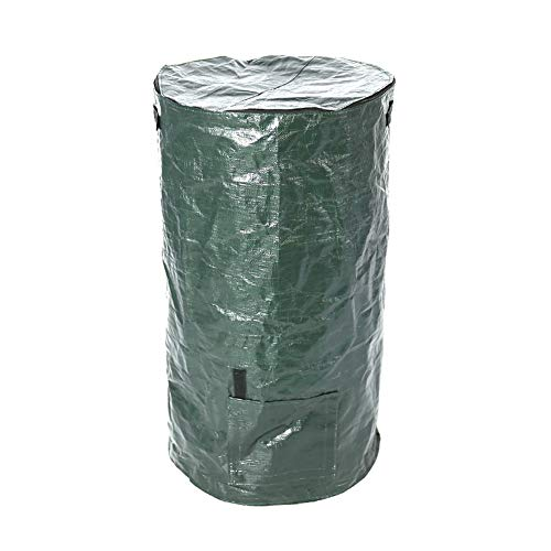 Cheapest Prices! Reuseable Garden Leaf Waste Can Yard Compost Bin for Leaf, Lawn and Yard Waste - Pr...
