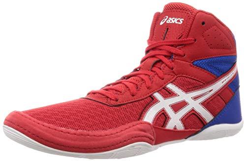 ASICS Matflex 6 Boxerschuhe, Ringerschuhe, Wrestlingschuhe – rot/weiß – GR: 43,5