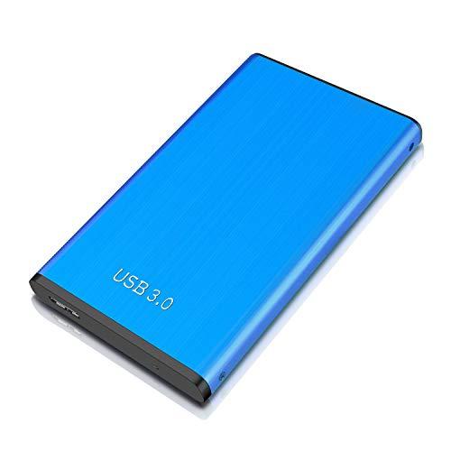 Disque Dur Externe 2to USB3.0 Disque Dur Externe pour PC, Mac, Ordinateur de Bureaup, Ordinateur Portable, Wii U, Xbox(2to, Bleu)