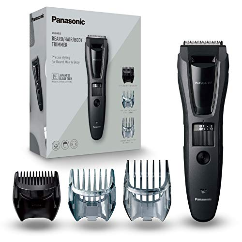 Panasonic ER-GB62 Electric Hair and Beard Trimmer for Men with 40 Cutting Lengths, 18 x 5.2 x 4 cm, Grey, 914 g, UK 2 Pin Plug