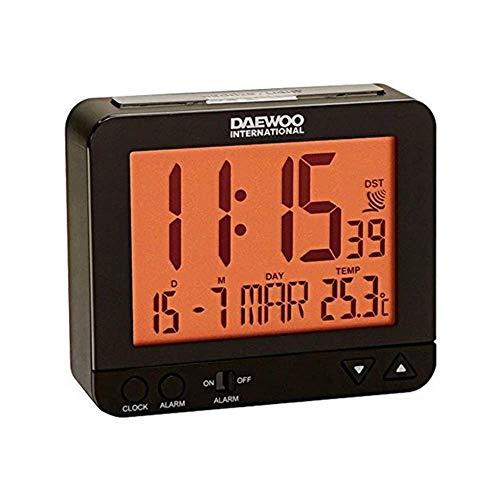 Daewoo DCD-200B - Orologio sveglia, colore: nero