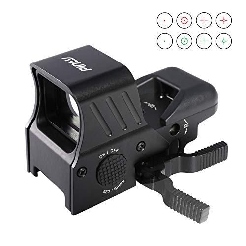 Pinty 1x22x33 Reflex Sight Red Dot Sight with 4 Reticles, QD Quick Release Mount