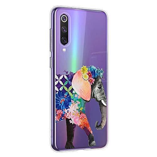 Oihxse Clair Case pour Xiaomi Mi A2 Lite Coque Ultra Mince Transparent Souple TPU Gel Silicone Protecteur Housse Mignon Motif Dessin Anti-Choc Étui Bumper Cover (A12)