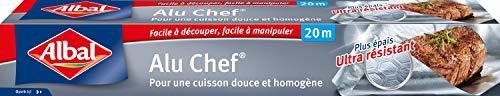 Albal Rouleau Aluminium, Facile à Découper, Ultra Résistant, 20 m, Alu Chef