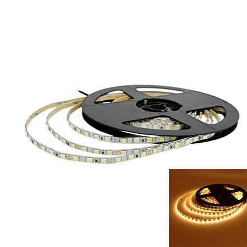 YUNBO Schmale Breite LED Streifen Licht 5m Nicht Wasserdichtes Warmes Weiß 3000-3500K DC 12V LED Leiste Schneidbar 600 LEDs SMD 2835 LED Band