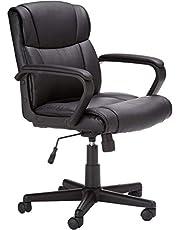 Mahmayi Padded Mid-Back Office Desk Chair, Black