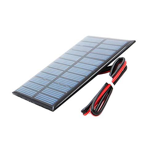 Fenteer Kleine Solarpanel Solarmodul Solarzelle Polykristallin DIY Solarpanel - D 5V 60x90mm