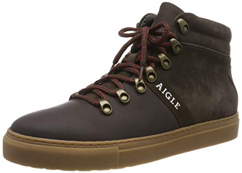 Aigle Herren Saguvi Mid Hohe Sneaker, Braun (Darkbrown 001), 41 EU