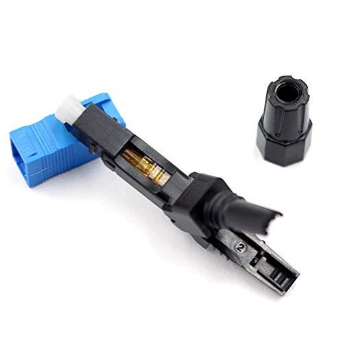 QWXX Adaptador de Fibra óptica 200 PCS/Lot SC UPC Fibra óptica Fast Conector rápido Azul Fibra FTTH monomodo SC Conector rápido Adaptador de Conector SC