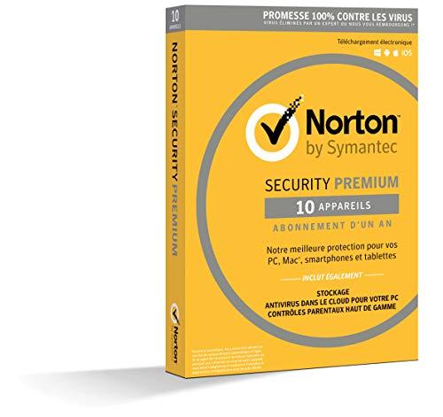 NortonLifeLock Security Premium 2019   10 Appareils   1 an   PC/Mac/iOS/Android   Téléchargement