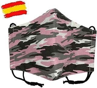 Mascarilla infantil higiénica de tela homologada UNE 0065 niña 10-12 años con filtro fijo lavable_marca: Brissa España