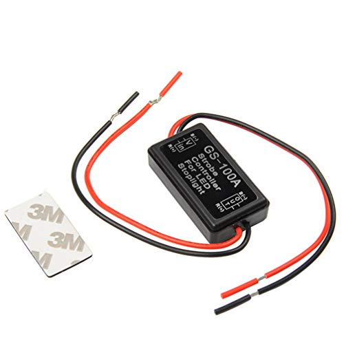 VORCOOL Flash Strobe Controller Flash Strobe Controller Blinkmodul für LED-Bremsendlicht 12-16V