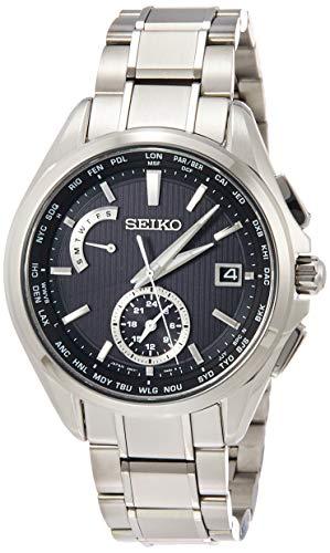 [セイコーウォッチ] 腕時計 ブライツ BRIGHTZ(ブライツ) ソーラー電波 チタン デュアルタイム表示 ワールドタイム表記 サファイアガラス SAGA287 メンズ シルバー