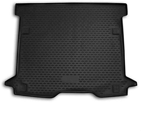 OMAC GmbH Auto Kofferraummatte Laderaumwanne Kofferraumshutz für Dokker 2015-2020 3D Passform Hoher Rand Antirutschmatte Gummi Matte Kofferraumwanne schwarz