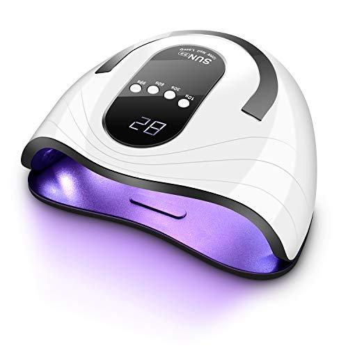 AutoSmile 120W Nageltrockner - 2020 Professionelle UV LED Lampe für Nägel,Nagellampe mit 4 Timer, Auto-Sensor, Touchscreen, Abnehmbare Magnet-Platte, Aushärtungswerkzeug für Finger/Zehennagel Gel
