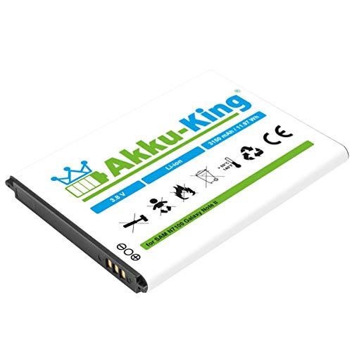 Akku-King Akku kompatibel mit Samsung EB595675LU - 3150mAh - für Galaxy Note 2 N7100, N7105, LTE - Li-Ion