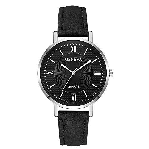 Orologio da polso donna Ronamick moda donna Genf cristallo acciaio inox pelle al quarzo analogico orologio da polso orologio da polso Z2