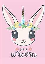 I'm a unicorn: Carnet de notes je suis une licorne | Carnet à remplir grand format 100 pages 7 x 10 pouces | livre brodé (French Edition)