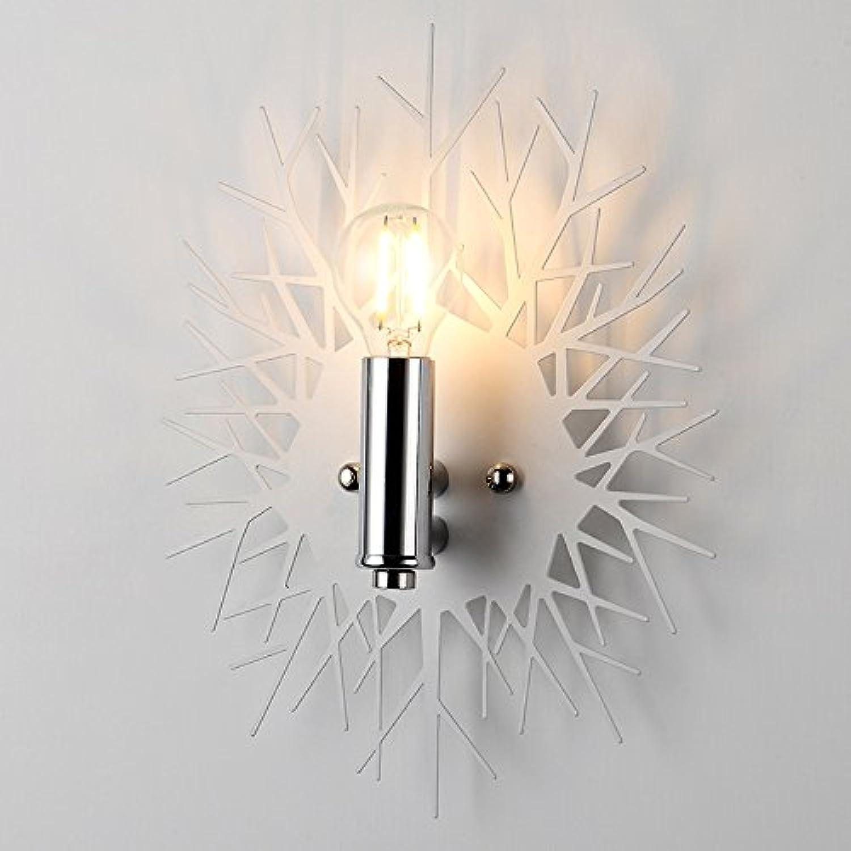BIDTIAXI Modern Wandleuchte Kreativ Schatten Wandlampe E14 Leuchte Eisen Lampe Runde Projektionslampe für Wohnzimmer Schlafzimmer Korridor Treppen Bettseite L21 H29cm