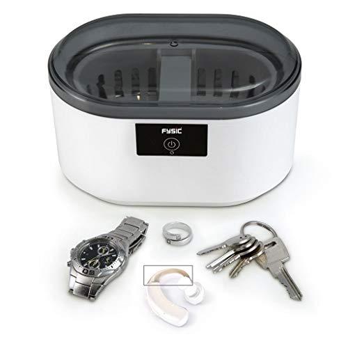 Fysic FC-22 digitales Ultraschallreinigungsgerät mit 500 ml Inhalt und automatischem 5 Minuten Reinigungsprogramm inkl. Korbbehälter