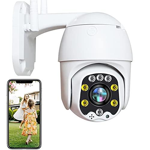 3G/4G SIM IP Cámara de Vigilancia Exterior High-Definition 1080P Alarma de Detección de Movimiento Pan355°/Tilt90° Cámara PTZ Exterior,Visión Nocturna en Color,Impermeable,Granja/Pastar 【Cámara+64G】