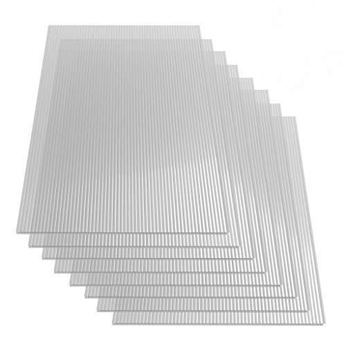 vidaXL 8x Polycarbonatplatte Doppelstegplatten Hohlkammerplatten Polycarbonat Stegplatten Hohlkammerplatte Doppelstegplatte 4mm 121x60cm