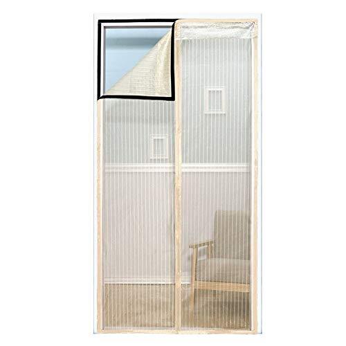 Vliegengordijn magneet, vliegeninsecten-wanze scherm string voor deuren divers kant ademend voor slaapkamer keuken balkon 120 * 210cm beige