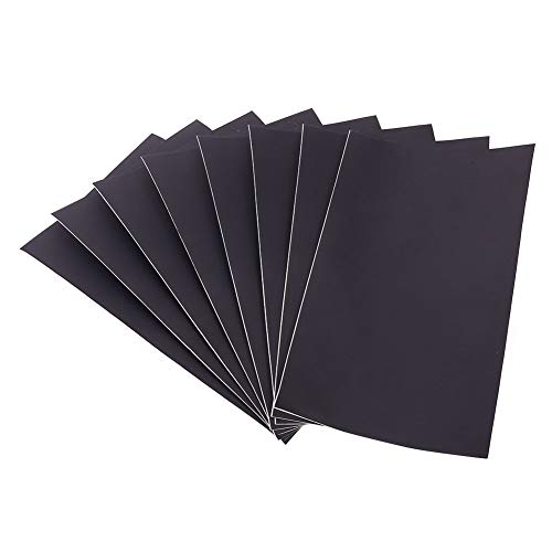 WANDIC Parche de reparación de Cuero, Kit de Adhesivo de Cuero de 8 Piezas para sofás de Muebles, Asiento de automóvil, sofá, Bolsos, Chaquetas (Negro)
