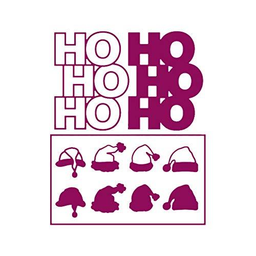 Weihnachtliche Stanzformen, Papierschnittform, Prägeschablonen für DIY Geburtstagskarten (TJ0029)