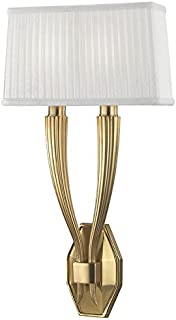 Hudson Valley Lighting 3862-AGB Two Light Wall Sconce from the Erie collection 2, Aged Brass