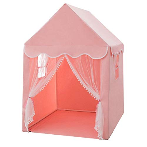 Kids Tent, Tents Pink Dream Tents for Kids, Children Grow Tent/Playhouse for Boys, Girls, Babies & Toddlers - Fun Games - Toy Hut Kids Teepee (Color : Pink, Size : 93 * 125 * 140CM) fashion