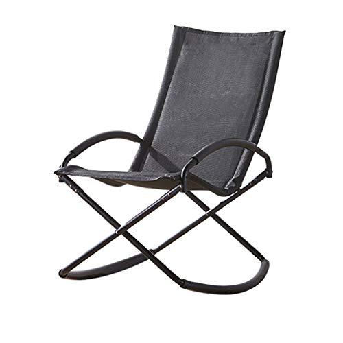 Chaise à Bascule Chaise Longue Textoline, Fauteuil inclinable Plus Large et Pliable for Utilisation à l'extérieur ou à l'intérieur, Chaise inclinable dans Le Salon de terrasse de Jardin, Chaise Long