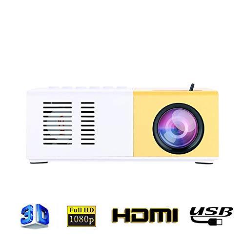 Mini Proyector, Proyector 1080P HD 16 Millones De Píxeles Ultra-Portátiles Proyector 300.000 Horas De Vida Útil LED Multi-Entrada Interfaz Del Proyector De Los Teléfonos Móviles,American regulations