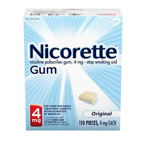 Nicorette Nicotine Gum Stop Smoking Aid,...