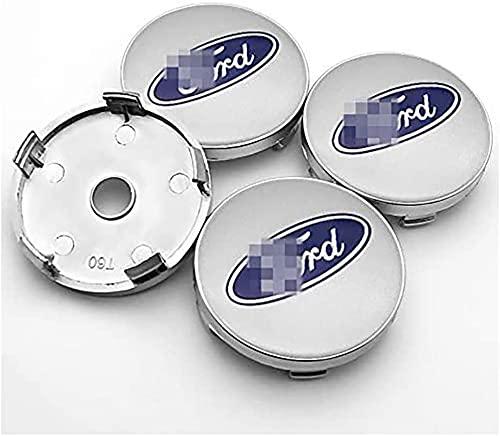 4 Piezas Tapacubos, para Ford Mustang Explorer Fiesta Focus Kuga Fusion F-1 Auto Protección Accesorios Prueba Polvo Impermeable Tapacubos Modificadas Accesorios