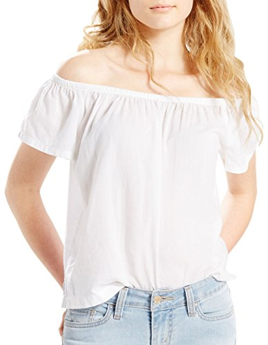 Levi's Women's Off-the Shoulder Top, White, Small