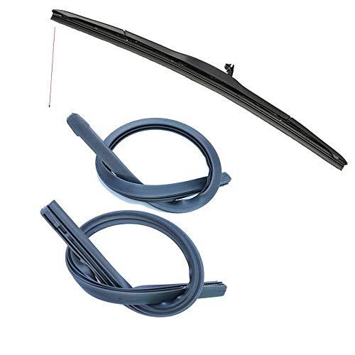 CHENWEI- 1set Limpiaparabrisas Black Blade Rellene Soft Soft ORIGINAL PARA TOYOTA PARA ACCESORIOS DE COCHES DE RAV4 26/16 pulgadas (Color : Black)