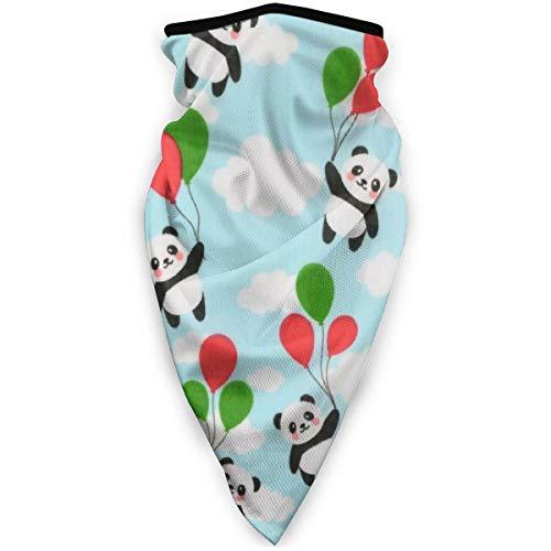 BJAMAJ Leuke Panda En Ballonnen Outdoor Gezicht Mond Masker Winddicht Sportmasker Ski Masker Schild Sjaal Bandana Mannen Vrouw