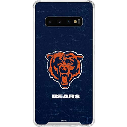 Skinit Clear Phone Case for Galaxy S10 - Officially Licensed NFL Chicago Bears - Alternate Distressed Design