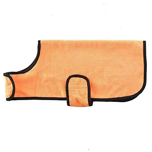 WANGLXST Hond Badjas Handdoek Microvezel Snelle Drogen Super Absorbens Huisdier Hond Kat Badjas Handdoek voor het Drogen van Jassen, Oranje